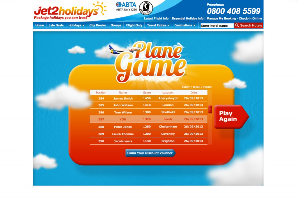 Jet2-holidays-game-leaderboard